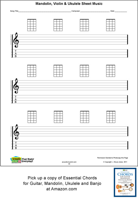 Ukulele Chords Sheet Music Keninamas